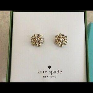 Kate Spade Bourgeois Bow Gold Tone Earrings